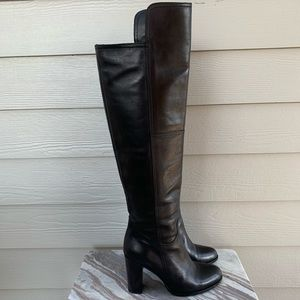 Saks Fifth Avenue Shoes - Saks Fifth Avenue Over The Knee Boots Black Lthr